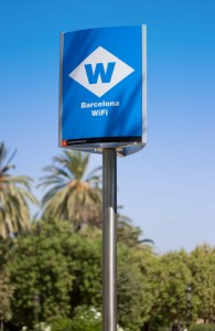 Look for the Barcelona wifi signs to log on